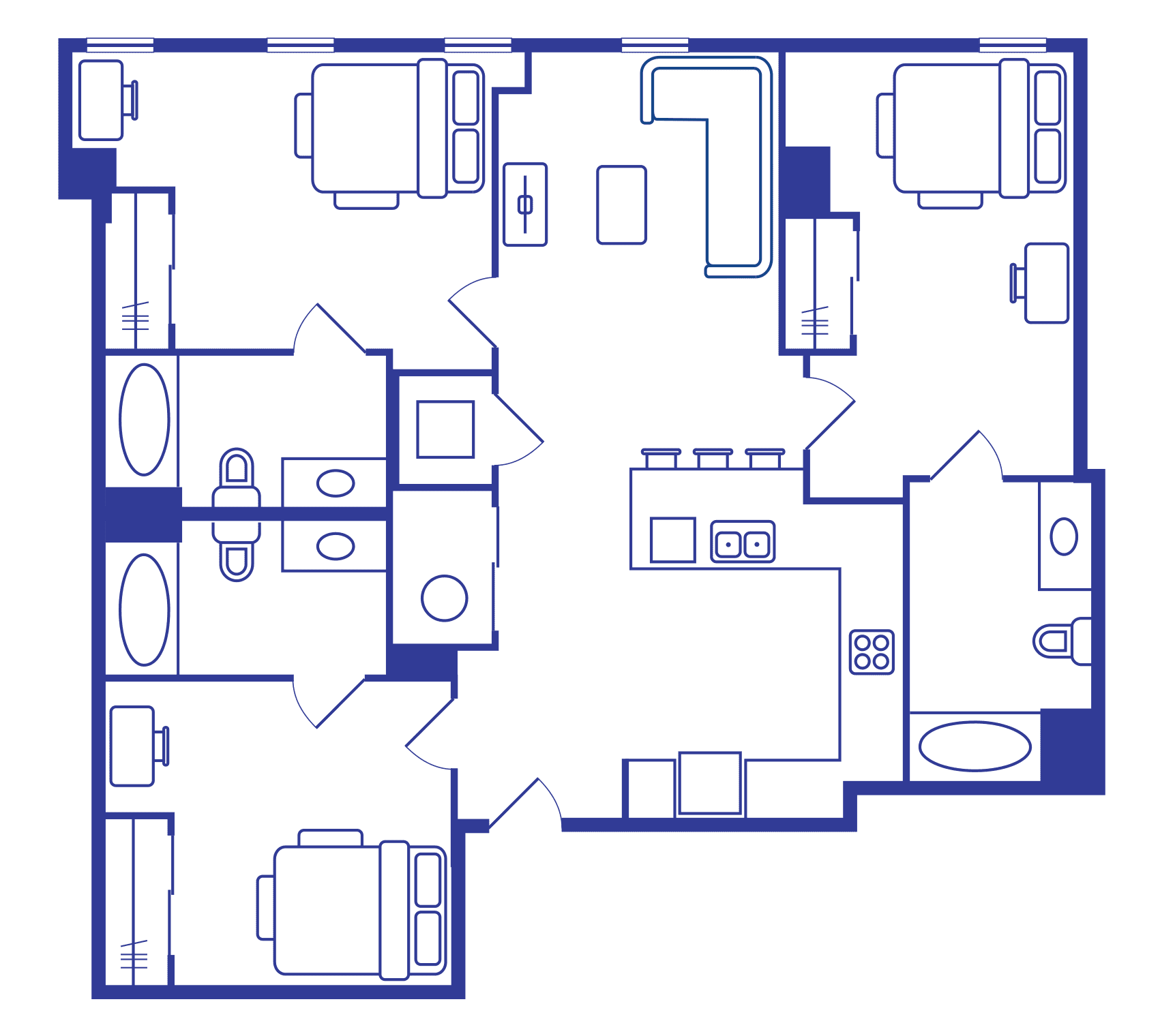 3 Bedroom Floorplan 2