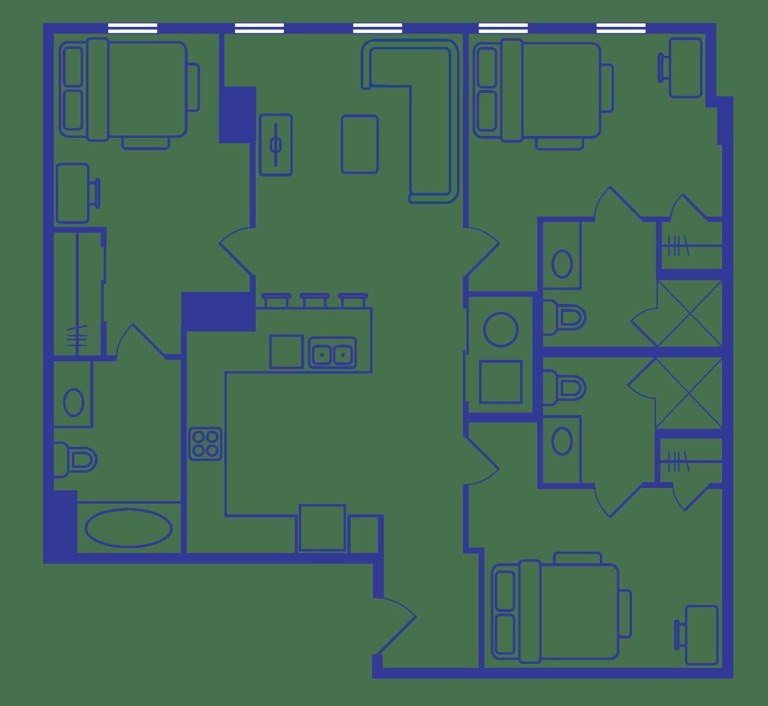3 Bedroom Floorplan 3